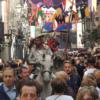 Don Quijote y Sancho abren el pasacalles del Mercado Cervantino