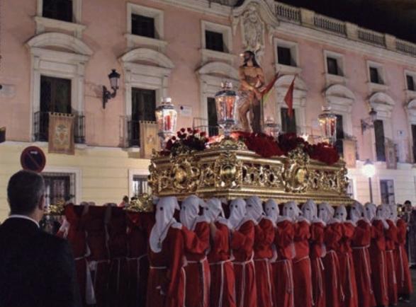 Semana Santa Alcalá 2020. Miércoles Santo. El Cristo de la Columna y la Virgen y el Cristo de Santa Clara