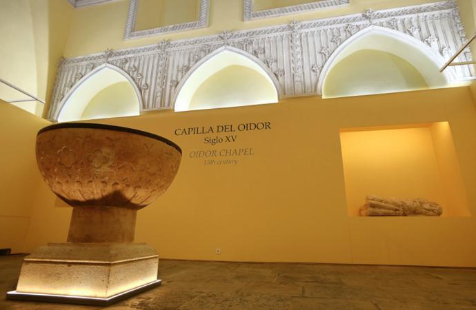 La Capilla del Oidor de Alcalá se adapta como museo destacando aún más la pila bautismal de Cervantes