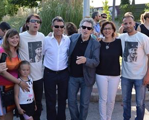 Miguel Ríos asiste al homenaje del mítico Paco Palacios en Alcalá