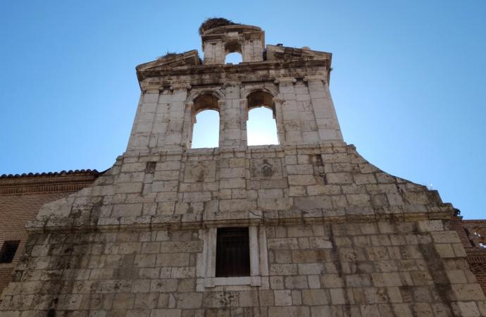 Comienzan las obras de restauración de la fachada de la Capilla de San Ildefonso de la Universidad de Alcalá