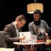El «Rey del Thriller Conspirativo» español, Javier Sierra, y Cristina López Barrio, en Alcalá de Henares