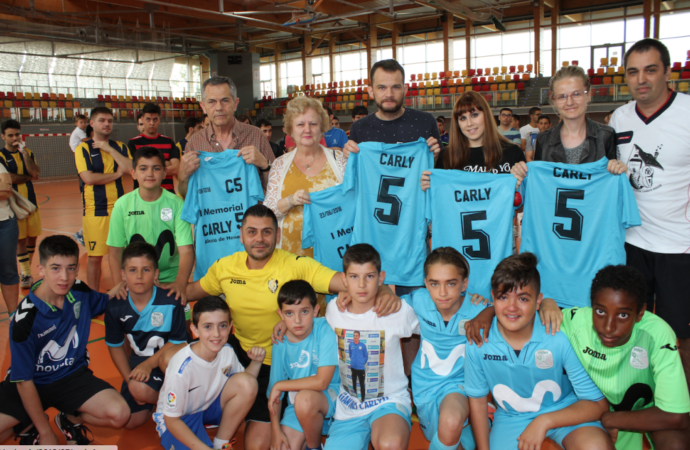De Gea y el Fútbol Sala de Alcalá se vuelcan en el «I Memorial Carly 5»
