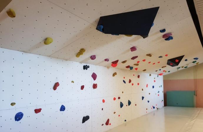Al mal tiempo… escalada: nueva 'zona bulder' en el Campus de la Universidad de Alcalá