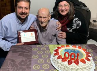 Sacedón homenajea a un vecino al cumplir 100 años: Jesús Alcantarilla