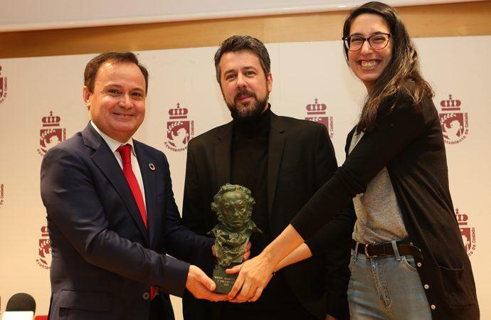 El cosladeño Nacho Díaz, ganador de un Goya, recibe un homenaje en el ayuntamiento