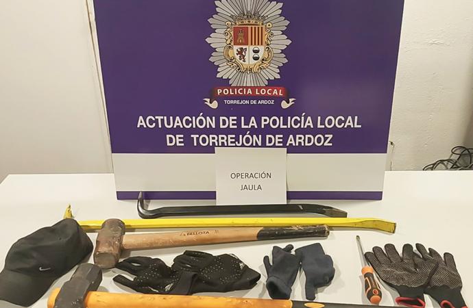 """Desarticulada en Torrejón de Ardoz una banda dedicada al robo de establecimientos en el marco de la """"Operación Jaula"""""""