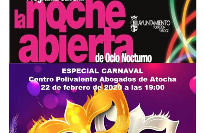 """Baile de disfraces este sábado 22 dentro de """"La noche abierta"""" de Torrejón"""