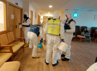 La UME realiza labores de desinfección en las residencias de Torrejón de Ardoz