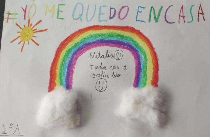 Dibujos de ánimo llenan de esperanza las residencias de mayores y el Hospital de Alcalá