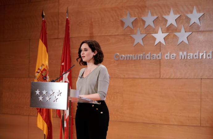 Este fin de semana habrá un repunte de contagios en la Comunidad de Madrid, según la Presidenta Díaz Ayuso