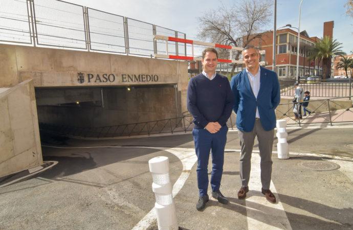 El nuevo túnel de la calle de Enmedio en Torrejón de Ardoz, abre al tráfico