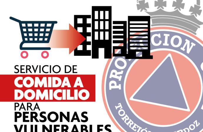 Protección Civil de Torrejón hace la compra a personas vulnerables durante el confinamiento