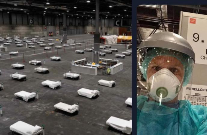 Desde dentro de IFEMA: «extremamos las precauciones, pero es difícil», nos cuenta Alberto