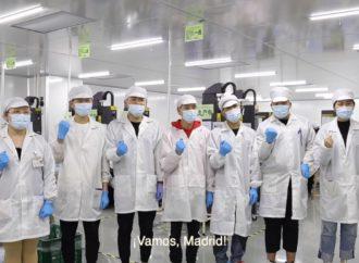 ¡Vamos, Madrid! : el mensaje que trae desde China el avión cargado con 58 toneladas de material sanitario