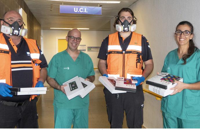 Tablets para que los mayores aislados u hospitalizados por el COVID-19 puedan comunicarse con sus familias