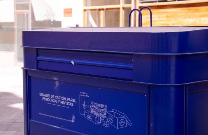 Alovera instala nuevos puntos de recogida de papel y cartón además de duplicar la frecuencia de recogida