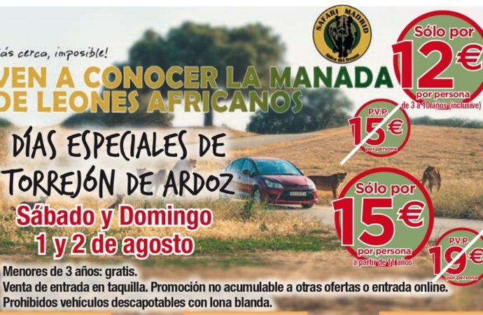Continúan los Días Especiales de Torrejón de Ardoz: este fin de semana descuentos en Safari Madrid