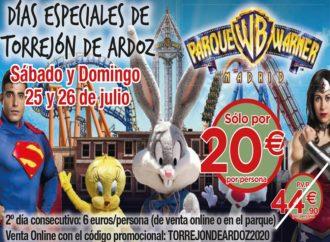Continúan este fin de semana los Días Especiales de Torrejón con grandes descuentos en el Parque Warner