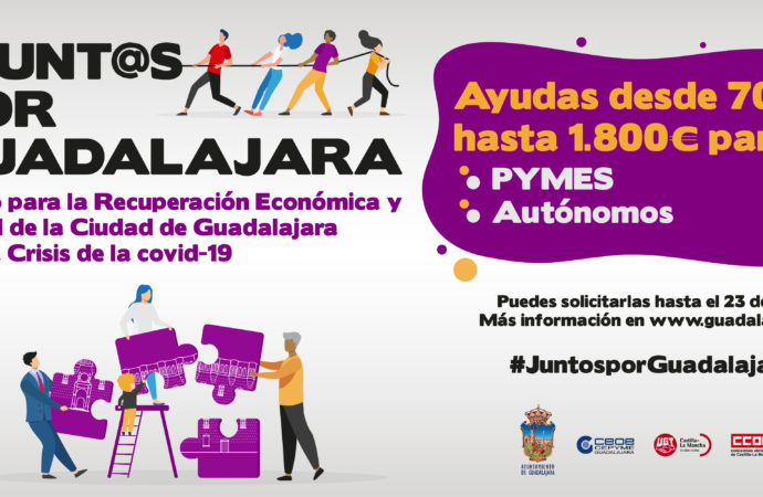 Este jueves finaliza el plazo para solicitar las ayudas del ayuntamiento de Guadalajara a autónomos y Pymes