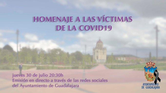 Guadalajara homenajeará este jueves a las víctimas del coronavirus