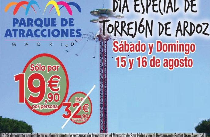 Continúan este fin de semana los Días Especiales de Torrejón con grandes descuentos en el Parque de Atracciones
