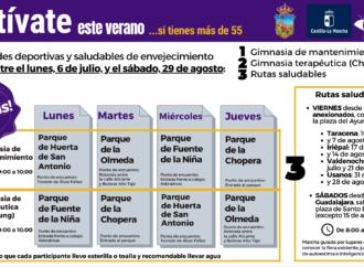 Continúa en Guadalajara el programa «Actívate en verano» dirigido a los mayores de 55