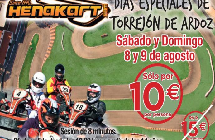 Días Especiales de Torrejón: este fin de semana descuentos en el circuito de karting Henakart