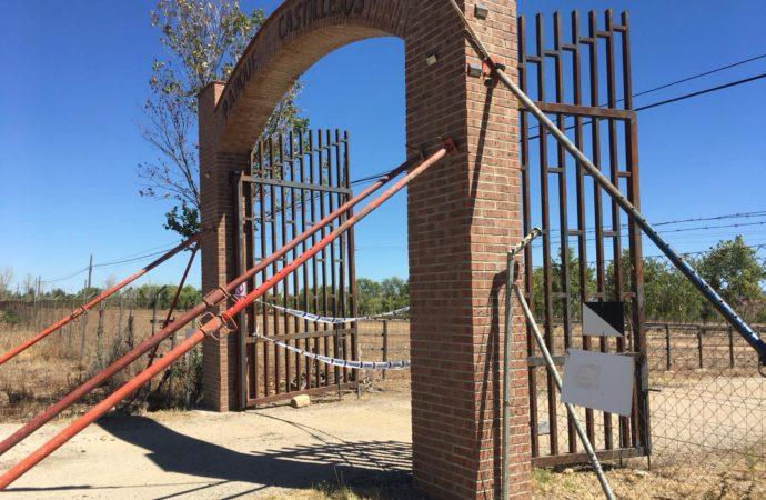 Guadalajara cierra el arco de acceso a la finca Castillejos por riesgo de derrumbe