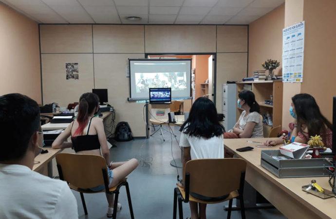 Intercambio virtual académico entre jóvenes franceses y azudenses