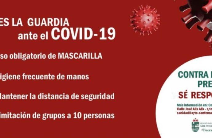 San Fernando de Henares establece nuevas medidas sanitarias contra el coronavirus