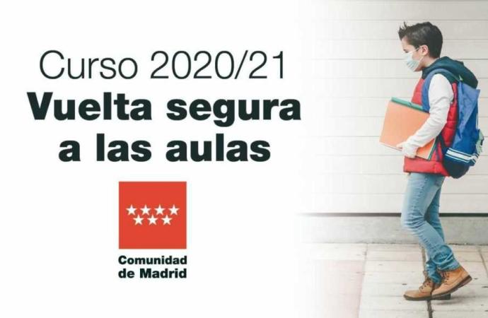 La «Vuelta al Cole» en Madrid será escalonada, semipresencial en algunas etapas y con más docentes