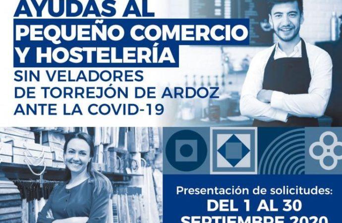 El 30 de septiembre finaliza el plazo para solicitar las ayudas que el Ayuntamiento de Torrejón ofrece al pequeño comercio y hostelería locales