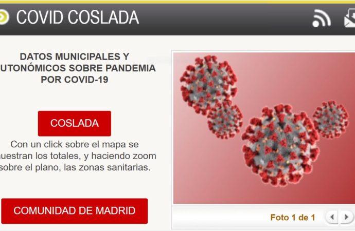 Coslada ofrece a sus ciudadanos datos sobre los contagios de COVID19 en la ciudad a través de la web municipal