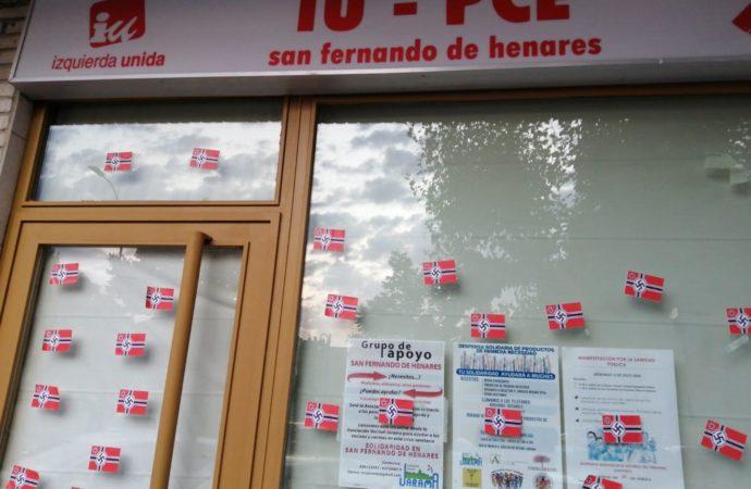 Coslada y San Fernando condenan las pintadas fascistas en las sedes de partidos políticos y asociaciones vinculados a la izquierda