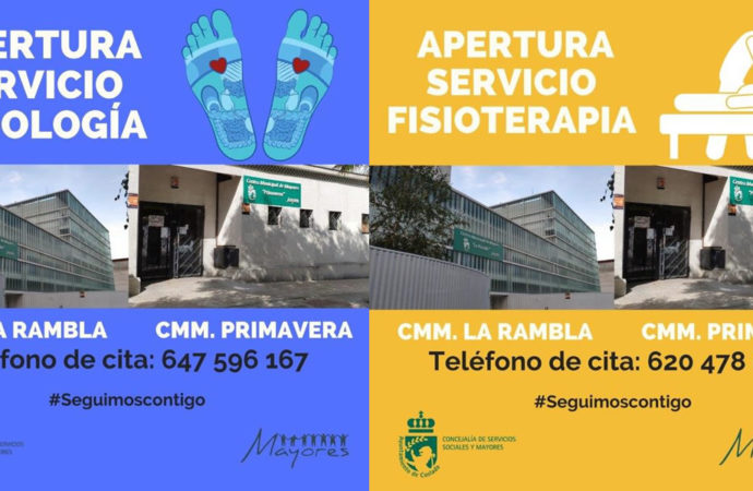 Se reanudan los servicios de Podología y Fisioterapia en los Centros Municipales de Mayores de Coslada