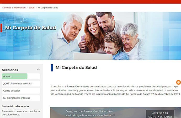 'Mi Carpeta de Salud': el nuevo servicio puesto en marcha por Salud Madrid para consulta de informes clínicos