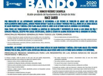 Desde el lunes los vecinos de Las Fronteras y Brújula en Torrejón de Ardoz no pueden salir de sus zonas salvo causa justificada