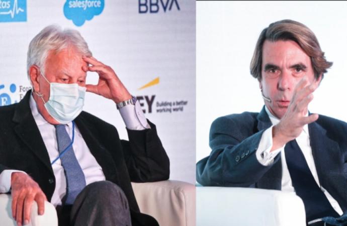 Felipe González y Aznar, en el Foro Económico Internacional Expansión que se celebra en el Parador de Alcalá