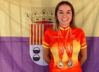 La ciclista Ania Horcajada, de Torrejón de Ardoz, campeona de España de velocidad en pista