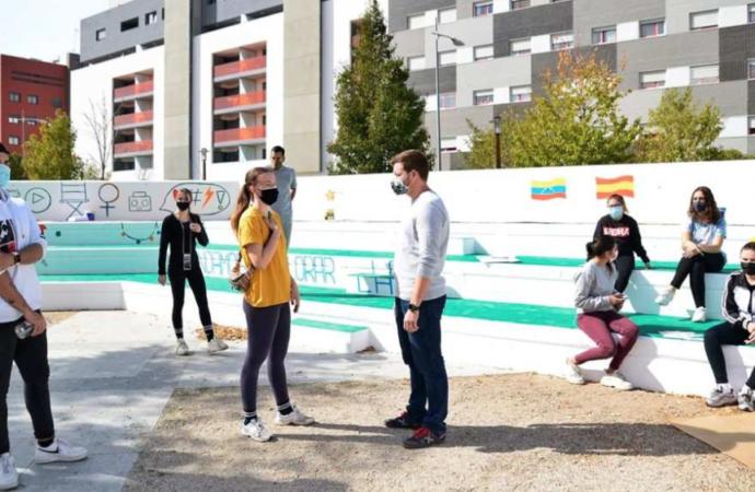 Nueva imagen para la Plaza del Viento en el barrio de Espartales en Alcalá