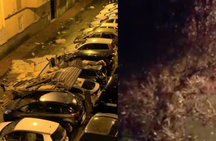 Los graves efectos del temporal en Alcalá de Henares. La lluvia seguirá toda la semana.