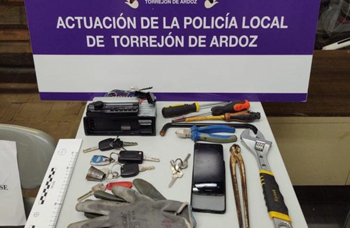 Tres detenidos en Torrejón de Ardoz por un delito de robo con fuerza cometido en Ajalvir