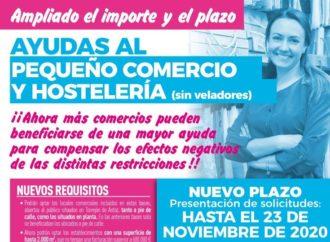 Torrejón duplica el importe de las ayudas para comercios a 1.000 euros y amplía el plazo de solicitud