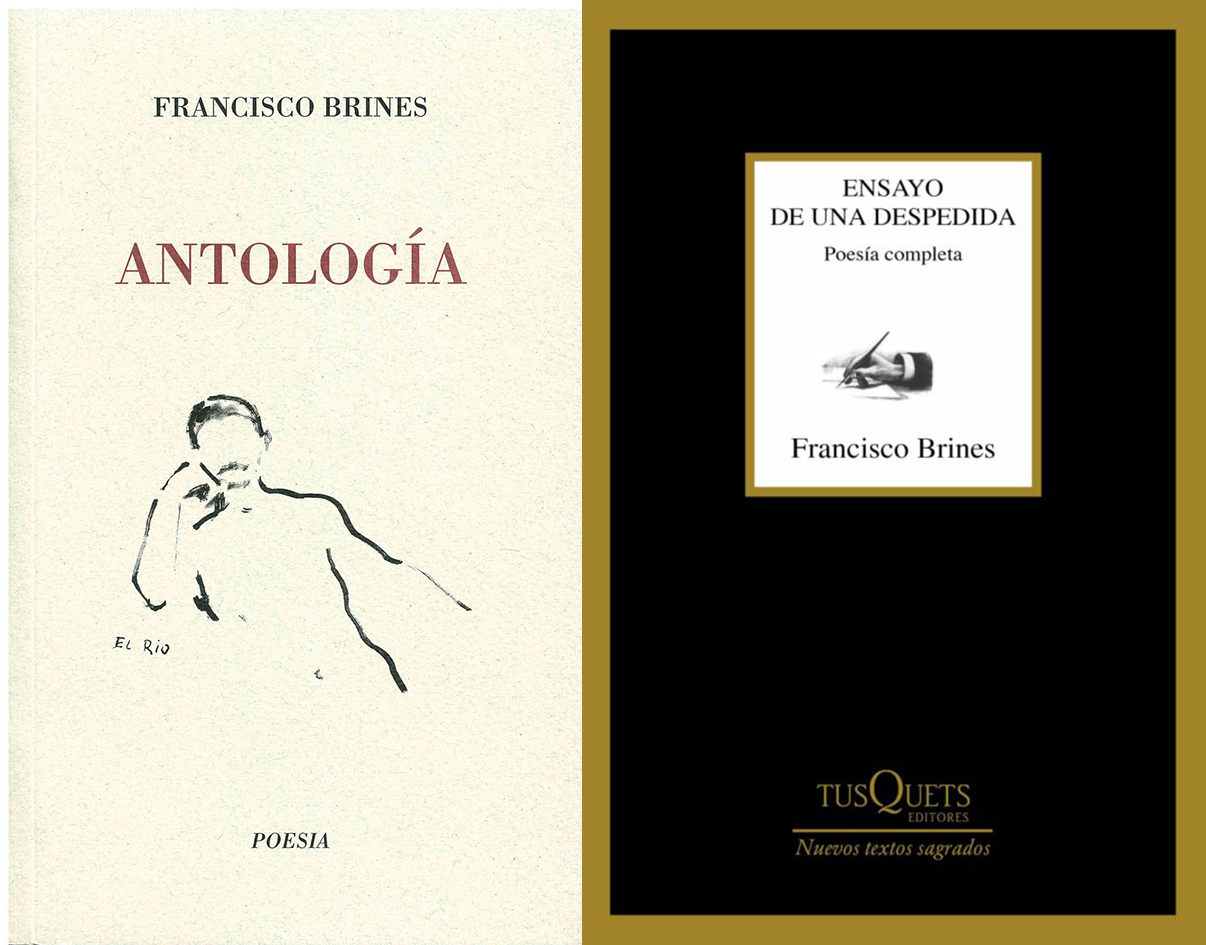 """Cubiertas de """"Antología"""" Editorial Aitana y """"Poesía Completa"""" Tusquets editores."""