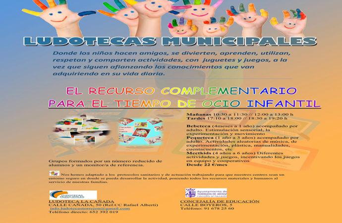 Torrejón continúa con sus actividades para los más pequeños en la Ludocteca municipal «La Cañada»