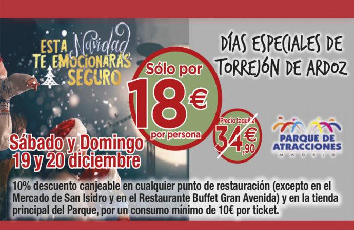 Este fin de semana vuelven los Días Especiales de Torrejón con descuentos en el Parque de Atracciones