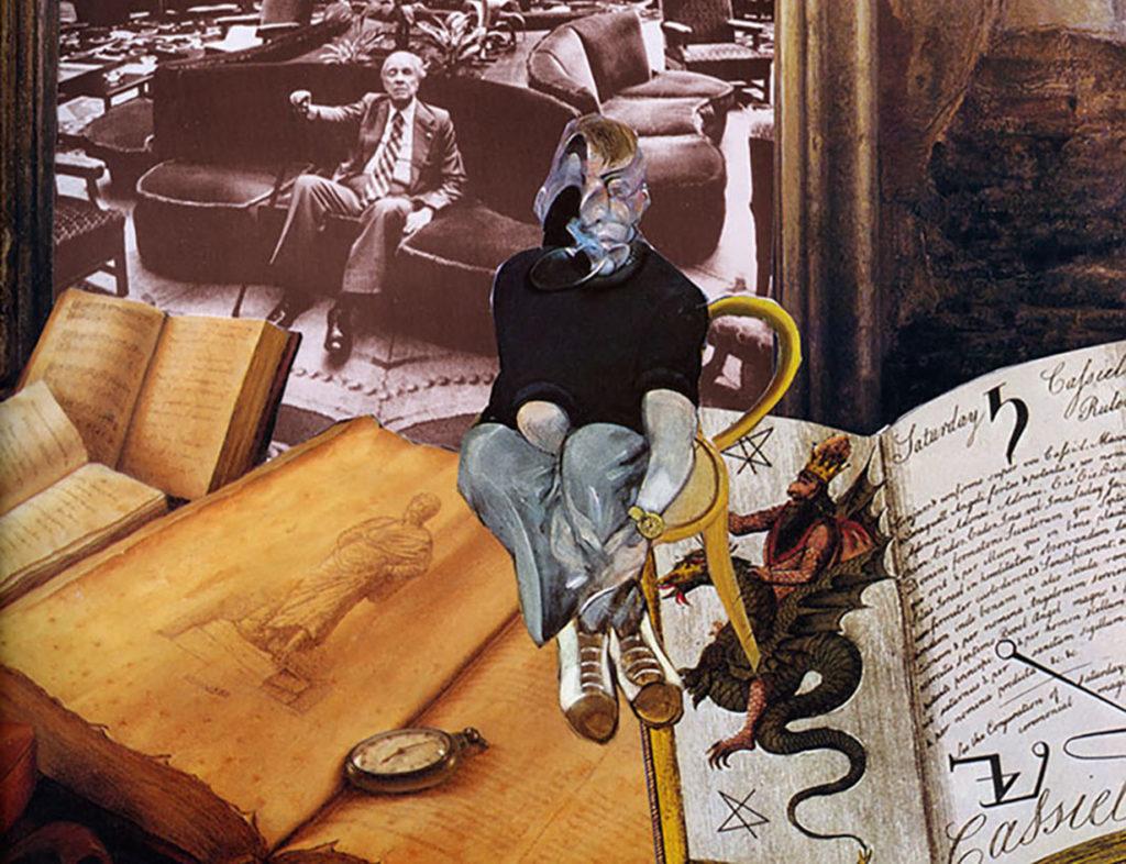 Borges nos aguarda (collage de V.A.S.).