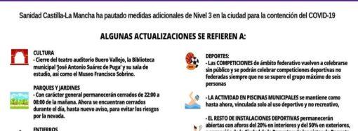 A partir de este martes entran en vigor las restricciones de nivel 3 frente al coronavirus en Guadalajara