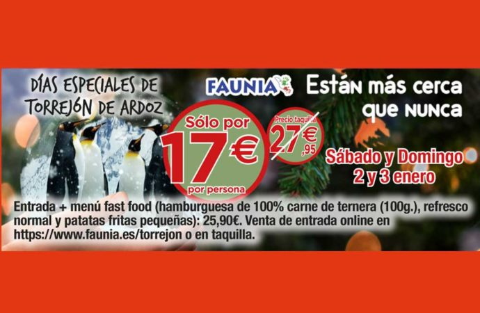 Días Especiales de Torrejón: este fin de semana descuentos en Faunia